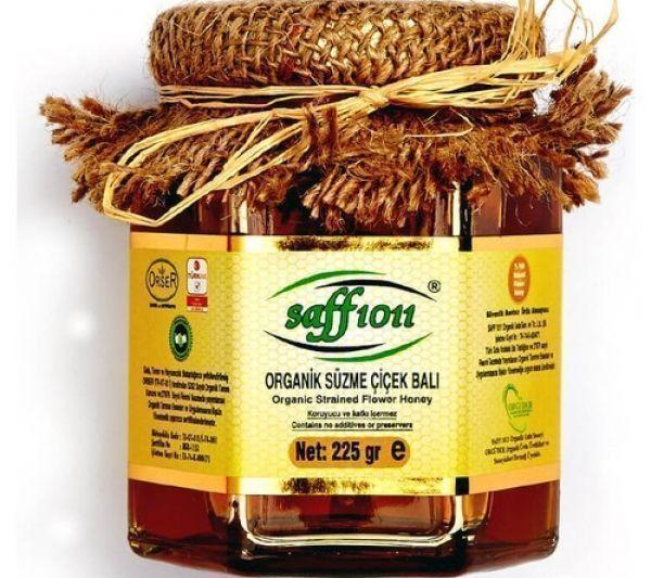 Saff 1011 Organik Süzme Çiçek Balı 225 Gr.